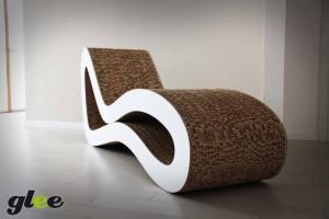 Chaise longue in cartone riciclato, Glee,