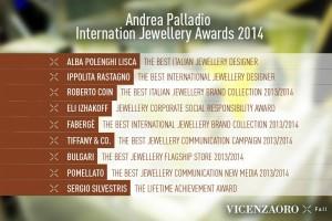 Andrea Palladio International Jewellery Awards 2014