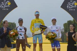 Podio Tour de France 2014