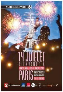 Fuochi d'artificio dalla Tour Eiffel