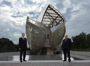 Bernard Arnaut e Frank Gehry