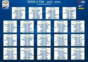 Calendario campionato di calcio 2015-2016