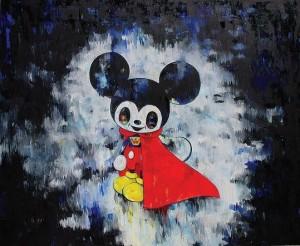 Super Armani Mickey di Tomoko Nagao alla Deodato Arte