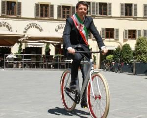 Matteo Renzi in bicicletta