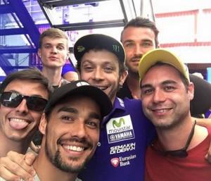 Fabio Fognini con Valentino Rossi