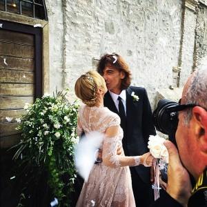 Patrizio di Marco e Frida Giannini sposi