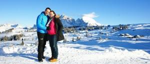 Peter Fill e la moglie Manuela Pitschieler