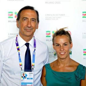 Tania Cagnotto e Giuseppe Sala