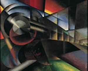 Ivo Pannaggi, Speeding Train (Treno in corsa), 1922