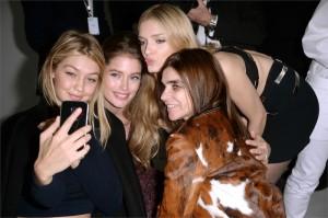 Gigi Hadid, Doutzen Kroes, Lily Donaldson, Carine Roitfeld  al party di Samsung per il lancio del Galaxy S6