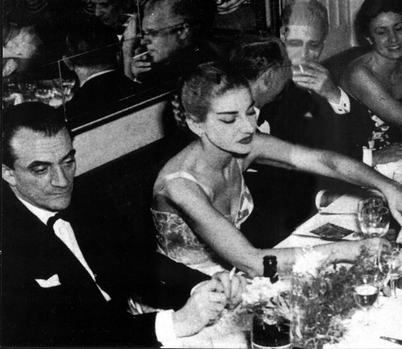 Ristorante Savini, Milano - Maria Callas
