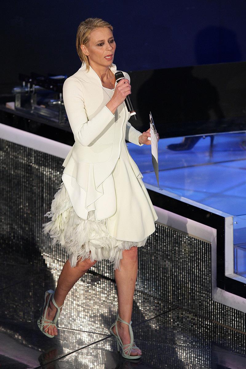 Maria De Filippi in Givenchy a Sanremo 2009