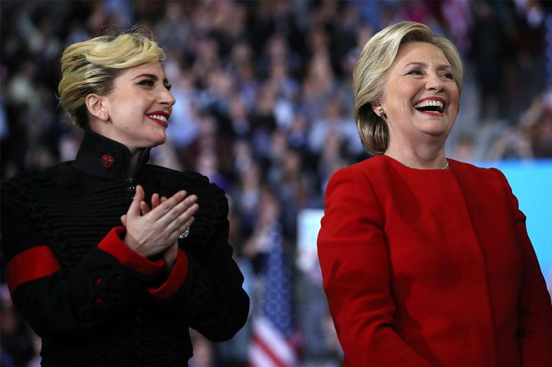 Hillary Clinton e Gaga