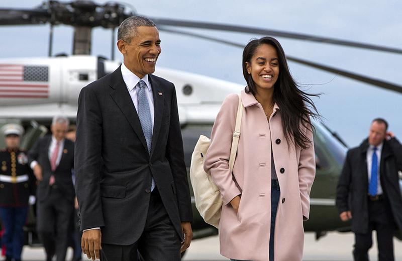 Malia e Barack Obama