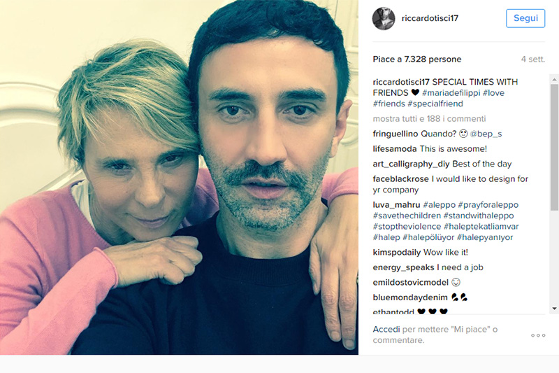 Maria e Riccardo su Instagram