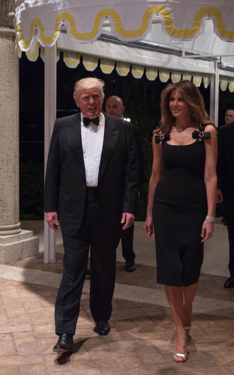 Melania Trump in Dolce&Gabbana per Capodanno
