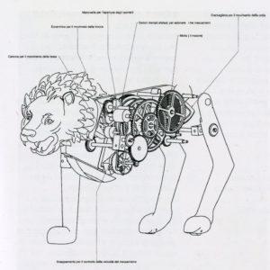 Studio preparatorio per il modello del leone meccanico