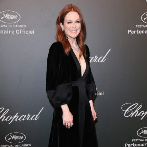 CANNES, FRANCE - MAY 19:  Julianne Moore attends the Chopard ìSPACE Partyî, hosted by Chopard's co-president Caroline Scheufele and Rihanna, at Port Canto on May 19, 2017, in Cannes, France.  (Photo by Gisela Schober/WireImage) *** Local Caption *** Julianne Moore