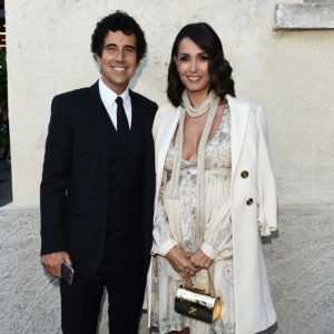 MILAN, ITALY - MAY 07:  Caterina Balivo and Guido Maria Brera attend a 'Private view of 'TV 70: Francesco Vezzoli Guarda La Rai' at Fondazione Prada on May 7, 2017 in Milan, Italy.  (Photo by Stefania D'Alessandro/Getty Images for Fondazione Prada)