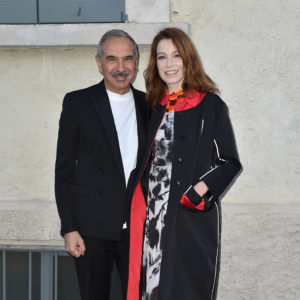 MILAN, ITALY - MAY 07:  Carlo Capasa and Stefania Rocca attend a 'Private view of 'TV 70: Francesco Vezzoli Guarda La Rai' at Fondazione Prada on May 7, 2017 in Milan, Italy.  (Photo by Jacopo Raule/Getty Images for Fondazione Prada)