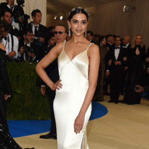 Photo by Clint Spaulding/WWD/REX/Shutterstock (8770840ca) Deepika Padukone The Costume Institute Benefit celebrating the opening of Rei Kawakubo/Comme des Garcons: Art of the In-Between, Arrivals, The Metropolitan Museum of Art, New York, USA - 01 May 2017