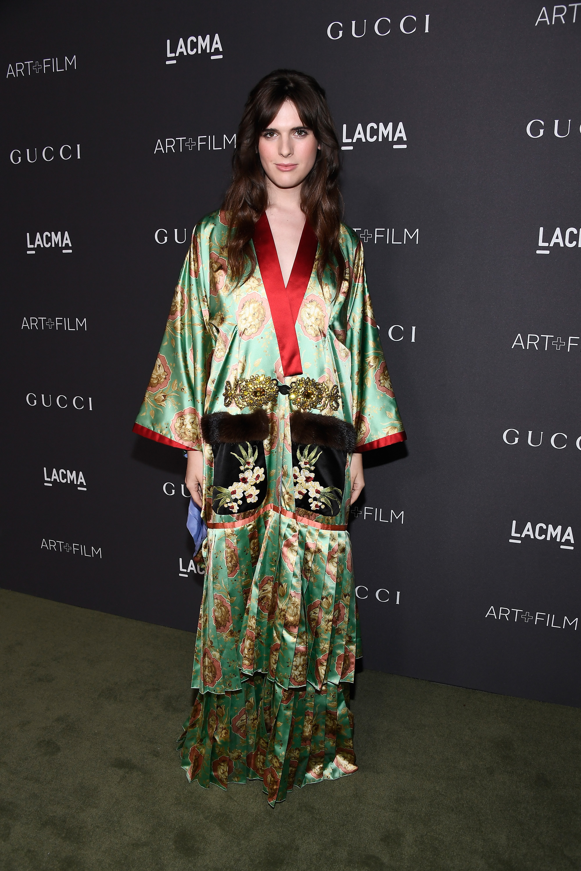 LOS ANGELES, CA - OCTOBER 29:  Actress/model Hari Nef, wearing Gucci, attends the 2016 LACMA Art + Film Gala honoring Robert Irwin and Kathryn Bigelow presented by Gucci at LACMA on October 29, 2016 in Los Angeles, California.  (Photo by Frazer Harrison/Getty Images for LACMA)