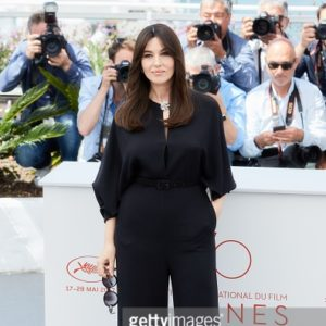 Monica Bellucci - Tuta by Stella McCartney e scarpe by Giuseppe Zanotti - Photo Courtesy of Getty Images