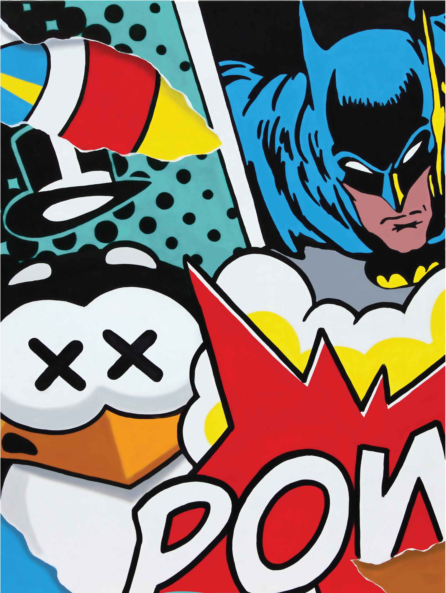 pao_batman-vs-penguin_2017_serigrafia_tecnica-mista_cm-100x70