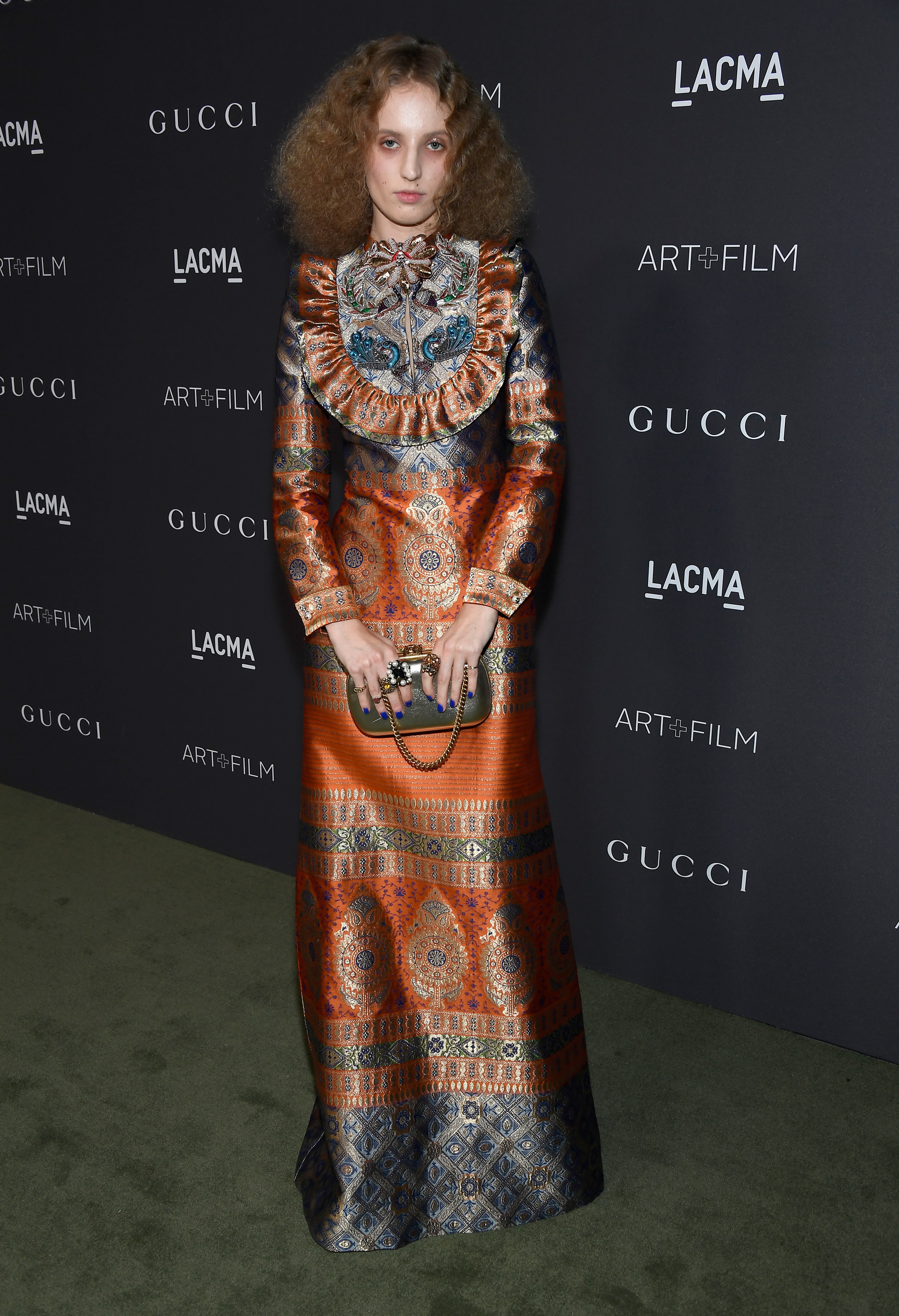 LOS ANGELES, CA - OCTOBER 29:  Artist Petra Collins, wearing Gucci, attends the 2016 LACMA Art + Film Gala honoring Robert Irwin and Kathryn Bigelow presented by Gucci at LACMA on October 29, 2016 in Los Angeles, California.  (Photo by Frazer Harrison/Getty Images for LACMA)