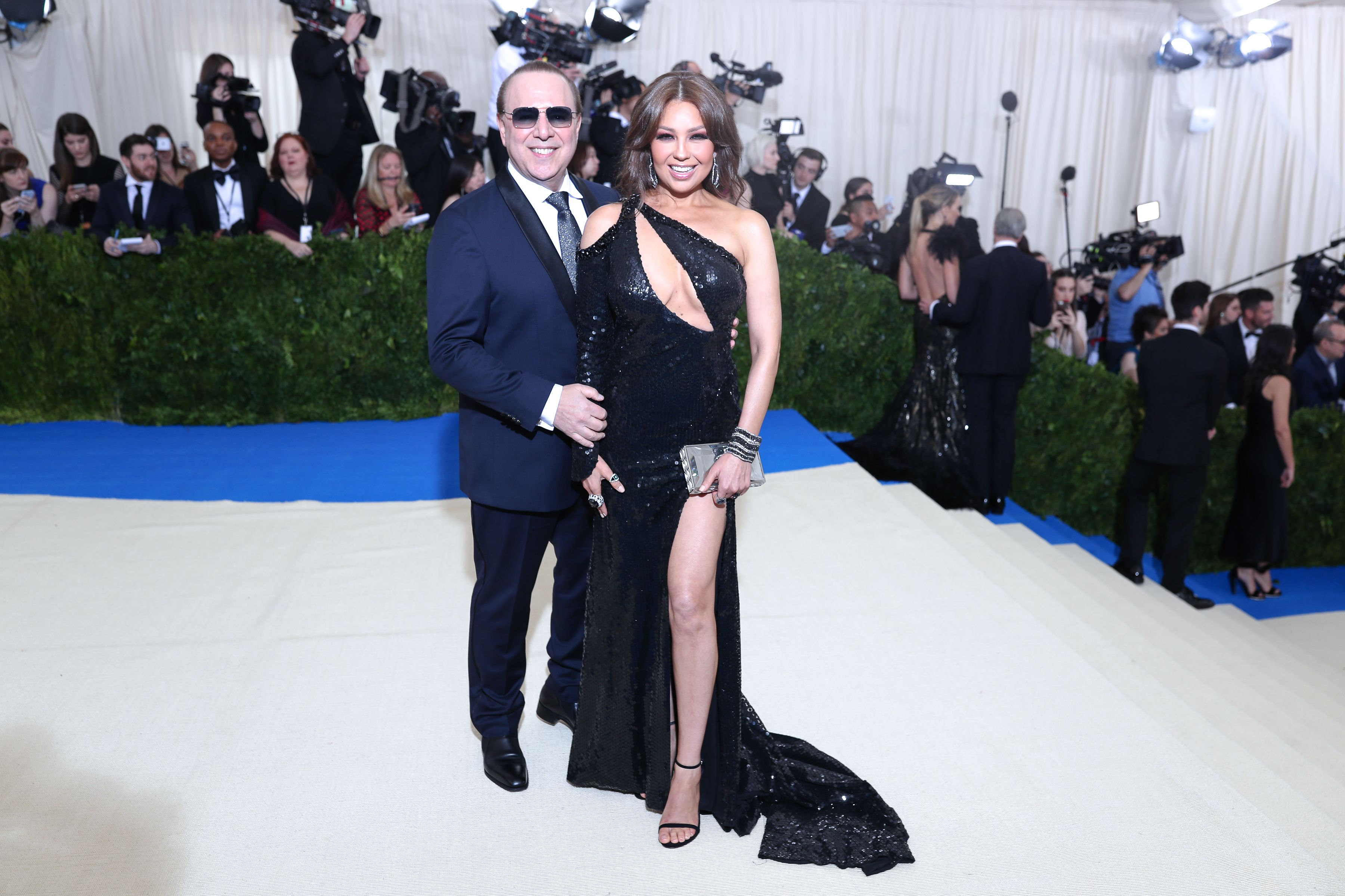 Photo by David Prutting/BFA/REX/Shutterstock (8770834fv) Tommy Mottola, Thalia The Costume Institute Benefit celebrating the opening of Rei Kawakubo/Comme des Garcons: Art of the In-Between, Arrivals, The Metropolitan Museum of Art, New York, USA - 01 May 2017