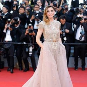 Clotilde Courau in ELIE SAAB Haute Couture Spring-Summer 2017 collection