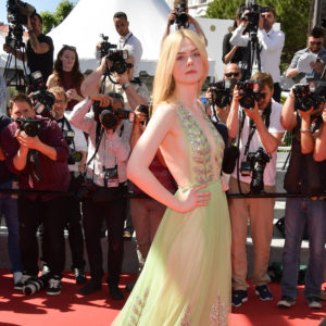 "CANNES, FRANCE - MAY 21:  Actress  Elle Fanning attends the ""How To Talk To Girls At Parties"" screening during the 70th annual Cannes Film Festival at  on May 21, 2017 in Cannes, France.  (Photo by George Pimentel/WireImage)"