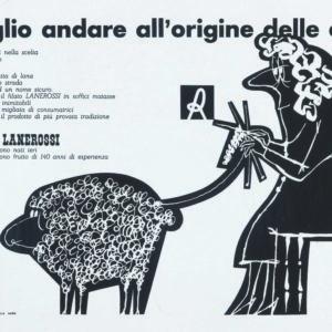 PINO TOVAGLIA, ANNUNCIO PUBBLICITARIO PER FILATI LANEROSSI, 1958 CA