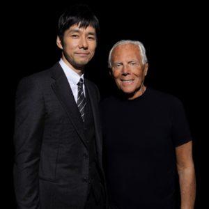 Hidetoshi Nishijima e Giorgio Armani by SGP