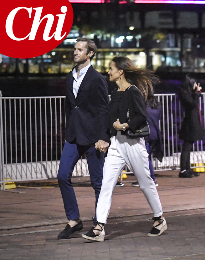 EXCLUSIVE: **PREMIUM EXCLUSIVE RATES APPLY** Pippa Middleton and James Matthews, enjoy a romantic date in Sydney, on the first night of the Australian-leg of their honeymoon on May 30.