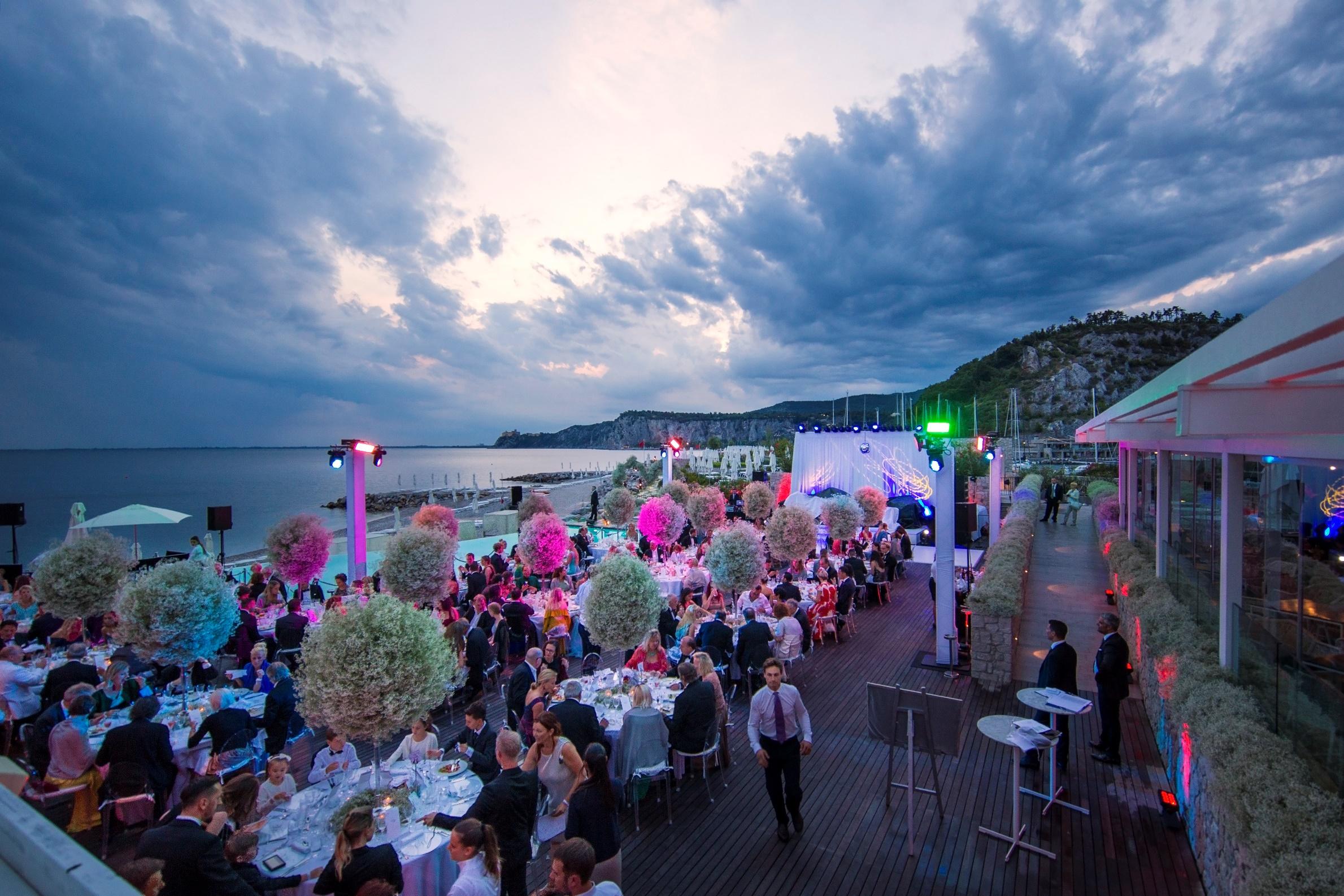 Victoria Swarovski and Werner Muerz Wedding Porto Piccolo, Italy Credit: chris singer | johannes kernmayer