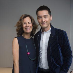 Roberta Armani e Hu Ge - EMPORIO ARMANI MENSWEAR FASHION SHOW SS 2018