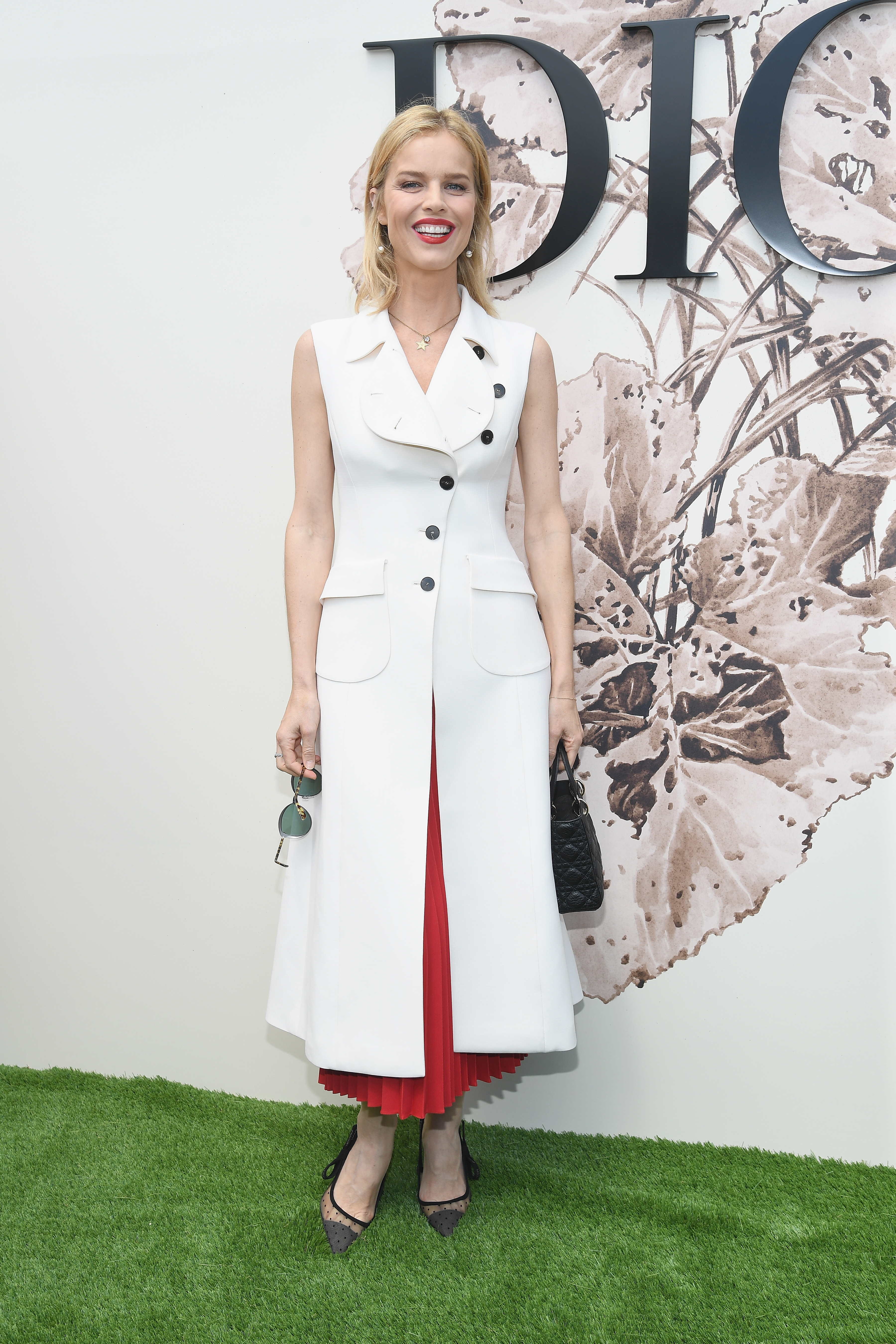 PARIS, FRANCE - JULY 03:  Eva Herzigova attends the Christian Dior Haute Couture Fall/Winter 2017-2018 show as part of Haute Couture Paris Fashion Week on July 3, 2017 in Paris, France.  (Photo by Pascal Le Segretain/Getty Images for Christian Dior) *** Local Caption *** Eva Herzigova