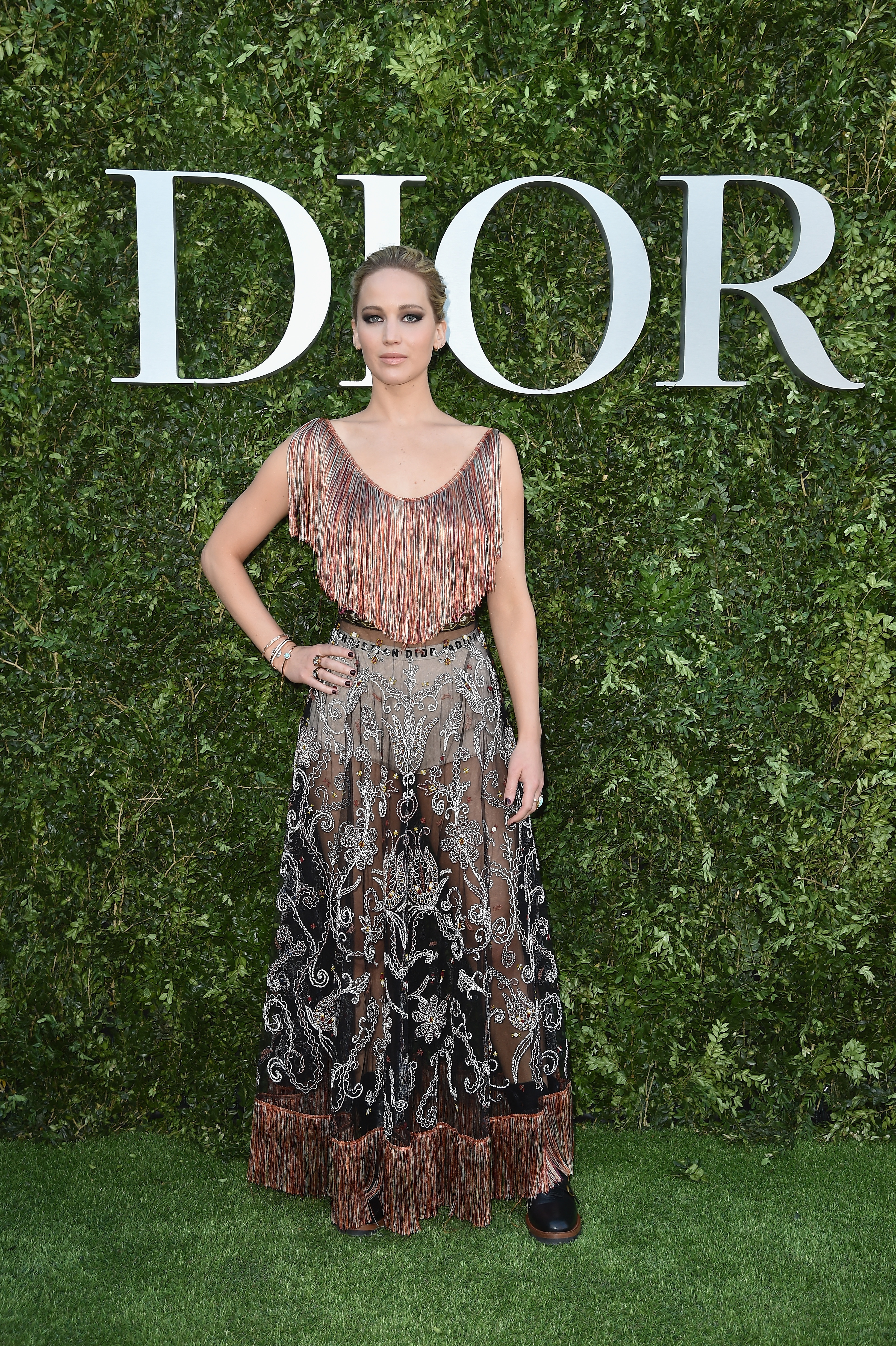 PARIS, FRANCE - JULY 03: Jennifer Lawrence attends 'Christian Dior, couturier du reve' Exhibition Launch celebrating 70 years of creation  at Musee Des Arts Decoratifs on July 3, 2017 in Paris, France.  (Photo by Jacopo Raule/Getty Images for Christian Dior) *** Local Caption *** Jennifer Lawrence