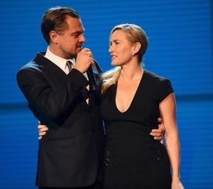 SAINT-TROPEZ, FRANCE - JULY 26:  Kate Winslet and Leonardo DiCaprio are seen on stage during the Leonardo DiCaprio Foundation 4th Annual Saint-Tropez Gala at Domaine Bertaud Belieu on July 26, 2017 in Saint-Tropez, France.  (Photo by Anthony Ghnassia/Getty Images for LDC Foundation) *** Local Caption *** Kate Winslet; Leonardo DiCaprio