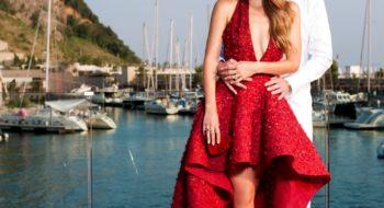 Victoria Swarovski and Werner Muerz WeddingPorto Piccolo, ItalyCredit:chris singer   johannes kernmayer
