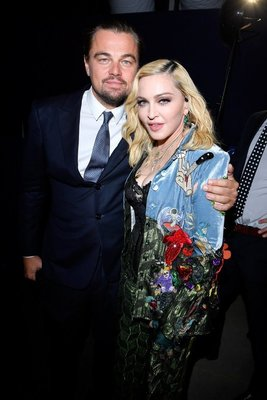 SAINT-TROPEZ, FRANCE - JULY 26:  (L-R)  Leonardo DiCaprio and Madonna pose backstage during the Leonardo DiCaprio Foundation 4th Annual Saint-Tropez Gala at Domaine Bertaud Belieu on July 26, 2017 in Saint-Tropez, France.  (Photo by Victor Boyko/Getty Images for LDC Foundation) *** Local Caption *** Madonna;Leonardo DiCaprio