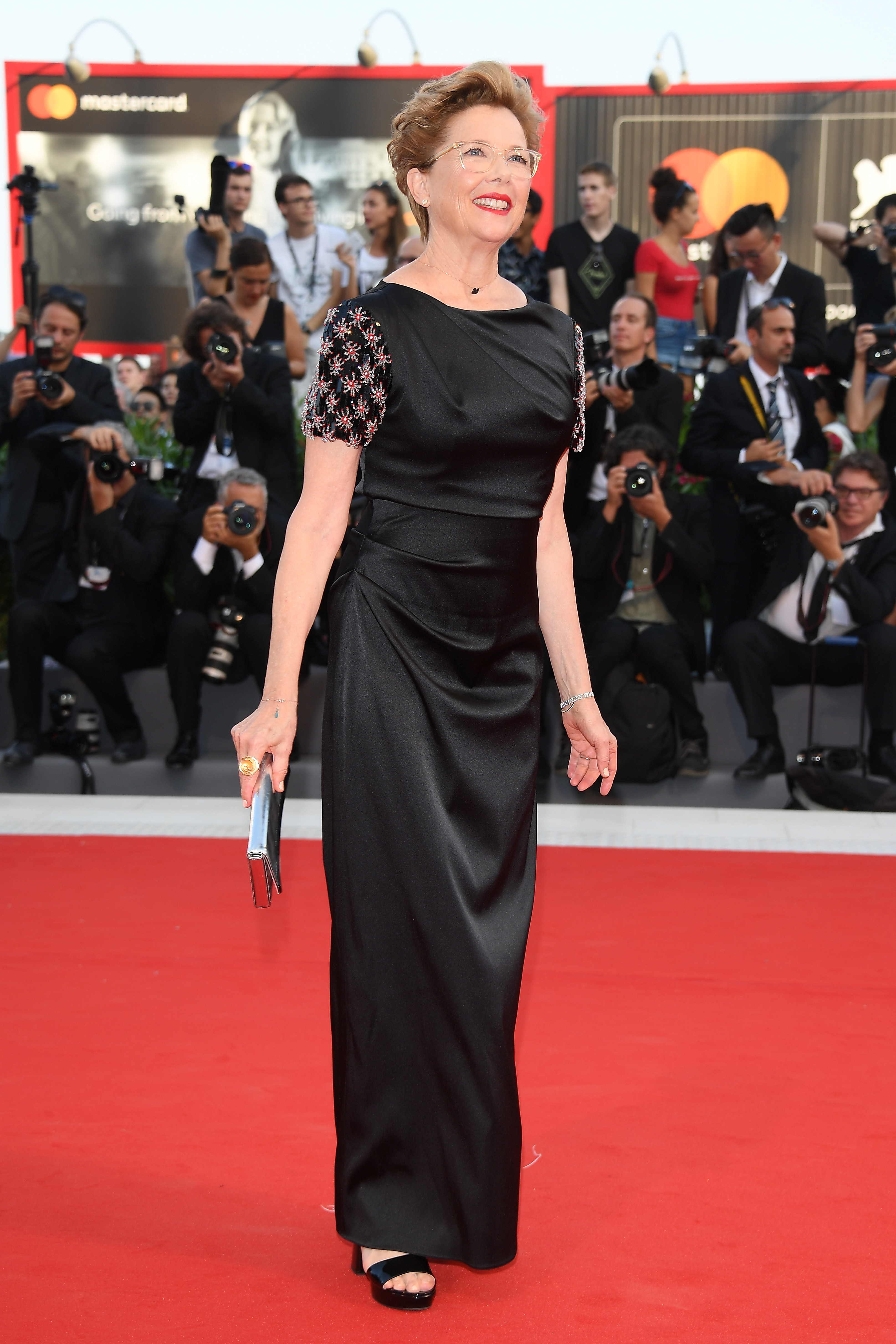 VENICE, ITALY - AUGUST 30:  Jury member Annette Bening  walks the red carpet ahead of the 'Downsizing' screening and Opening Ceremony during the 74th Venice Film Festival at Sala Grande on August 30, 2017 in Venice, Italy.  (Photo by Venturelli/WireImage)