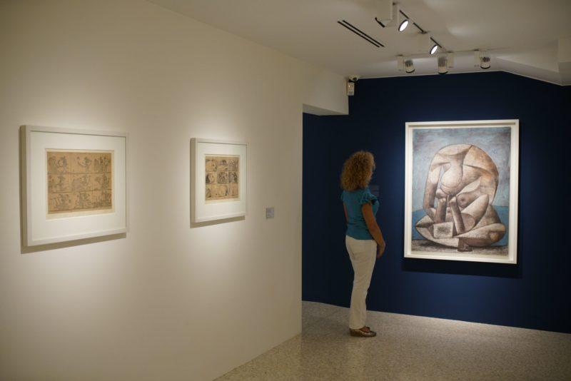 """""""Picasso. Sulla spiaggia"""", allestimento della mostra - © Matteo de Fina"""