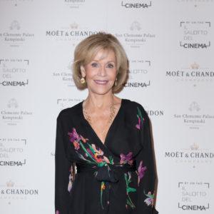 Jane Fonda - Star Internazionali che hanno autografato la mitica Golden Jeroboam Moët & Chandon sulla terrazza del Palazzo del Cinema - Courtesy of STUDIO ROBERTA CIAPPIcommunication & marketing