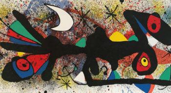 Joan Miró Senza Titolo 2, 1974 litografia a colori, cm 27,8x56,5