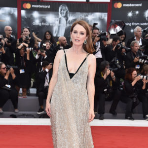VENICE, ITALY - SEPTEMBER 02:  Julianne Moore walks the red carpet ahead of the 'Suburbicon' screening during the 74th Venice Film Festival at Sala Grande on September 2, 2017 in Venice, Italy.  (Photo by Pascal Le Segretain/Getty Images)