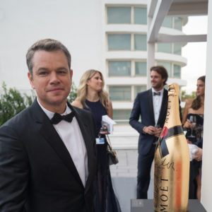 Matt Damon - Star Internazionali che hanno autografato la mitica Golden Jeroboam Moët & Chandon sulla terrazza del Palazzo del Cinema - Courtesy of STUDIO ROBERTA CIAPPIcommunication & marketing