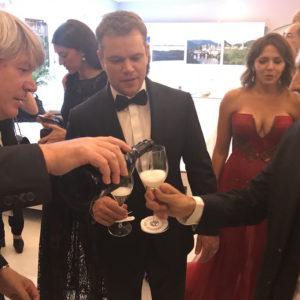 Matt Damon negli spazi della Regione Veneto con il Prosecco DOC
