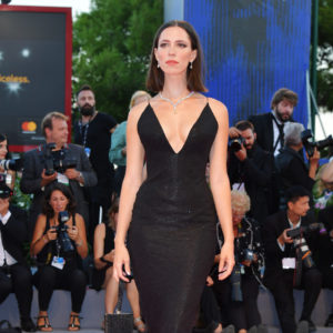 VENICE, ITALY - SEPTEMBER 05:  Rebecca Hall walks the red carpet ahead of the 'Mother!' screening during the 74th Venice Film Festival at Sala Grande on September 5, 2017 in Venice, Italy.  (Photo by Dominique Charriau/WireImage)